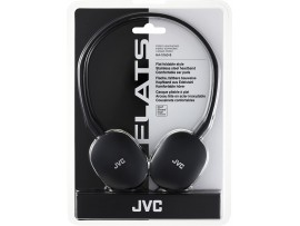 JVC HA-S160 Flats On-Ear Lightweight Headphone - Black / Red
