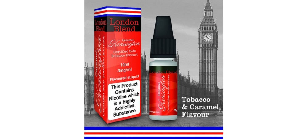 Kensington Tobacco with Caramel extracts - London Blend - 50VG/50PG