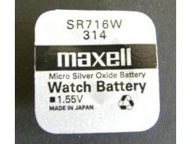 Maxell 314 SR716W Micro Silver Oxide Watch Battery