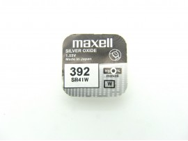 Maxell 392 SR41W AG9 Silver Oxide Watch Battery