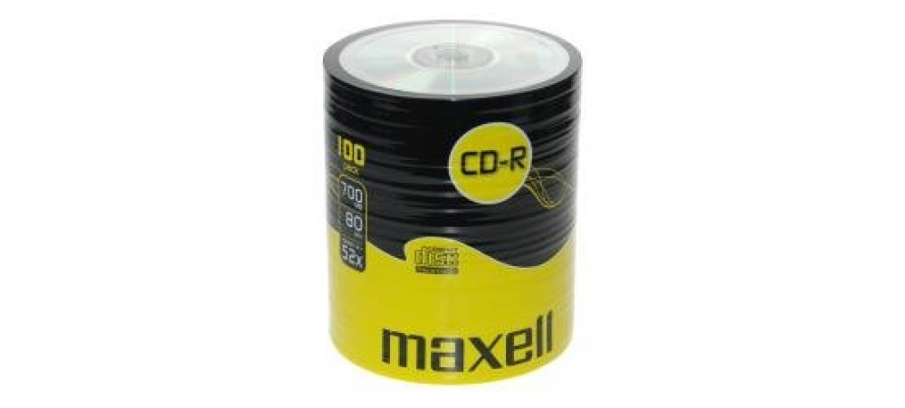 Maxell CD-R 52x Speed 100 Pack 'Shrink Wrapped' Discs