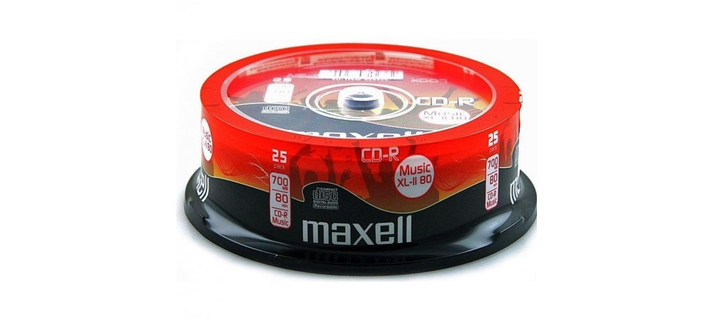 Maxell CD-R Music XL-II Digital Audio Recordable 80Min - 25 Pack Spindle