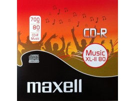 Maxell CD-R Music XL-II 80 Digital Audio Recordable 80Min - 10 Pack Jewel Case