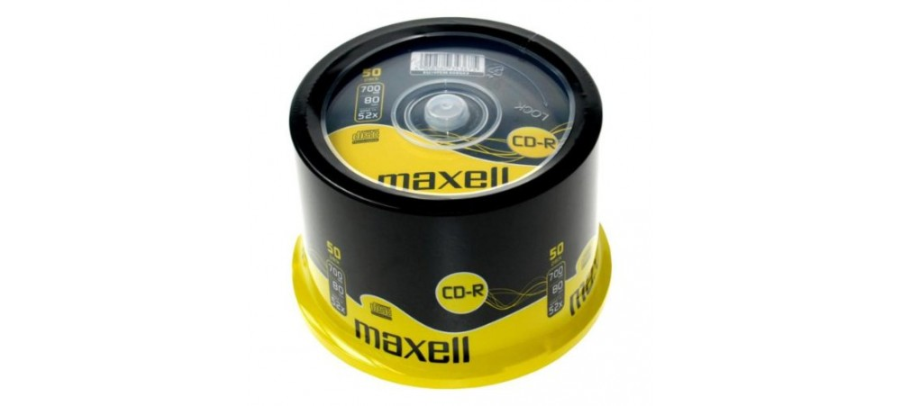 Maxell CD-R 52x Speed 80 Min 50 Pack Spindle