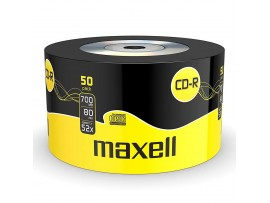 Maxell CD-R 52x Speed 80 Min 50 Pack Shrink Wrapped Discs