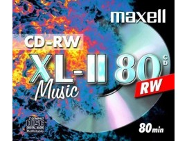 Maxell Audio CD-RW Music CD Rewriteable XL-11 80 - 10 Pack Jewel Case -  (check compatibility with your model, as early CD players may not be compatible)