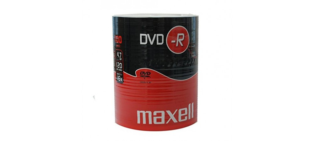 Maxell DVD-R 16x Speed 100 Pack 'Shrink Wrapped' Discs