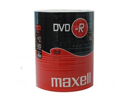 Maxell DVD-R 16x Speed 100 Pack 'Shrink Wrapped' Discs  -  (check compatibility with your model, as early CD players may not be compatible)