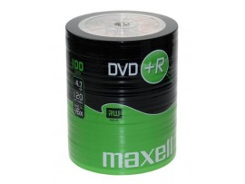 Maxell DVD+R 16 x Speed 100 Pack 'Shrink Wrapped' Discs