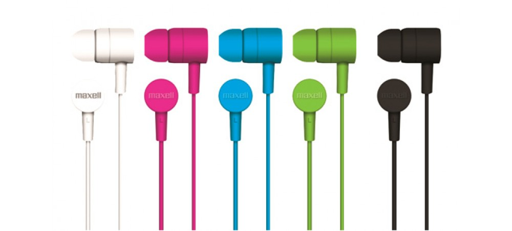 Maxell Spectrum Earphones with In-Line Mic
