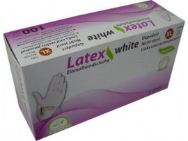 Medi-Inn Latex Powder Free White Examination Gloves - 100 peices per box - Available in Small / Medium and Large