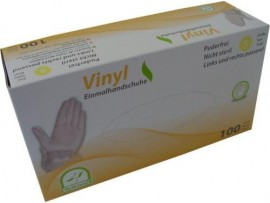Medi-Inn Disposable Vinyl Transparent Examination Gloves - Powder Free - Non-Sterile - 100 Pieces in a Box - Available in Small / Medium / Large