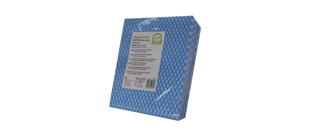 Medi-Inn Multi-Purpose Cleaning Wipes / Blue Cloth wipes / Disposable - 50 Wipes per Pack