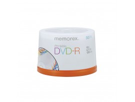 Memorex M00572 DVD-R 16x 50 Pack Spindle Inkjet Printable