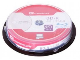 Mirror Blu-Ray Discs 4x 25GB White Inkjet Printable - 10 Pack