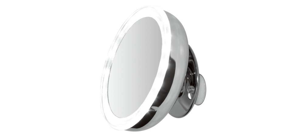 "5"" LED Mounted Mirror - 5x Magnified -Battery Operated"