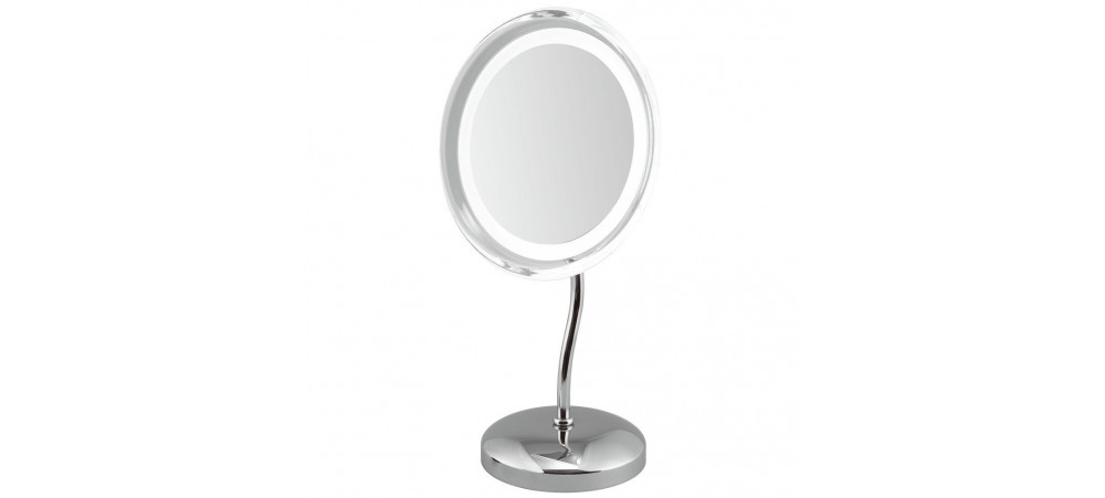 "9"" LED Illuminated 5x Magnifying Mirror - Battery operated"