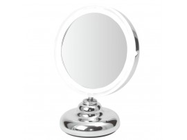 "5"" LED Compact Table Mirror - 5x Magnified -Battery Operated"