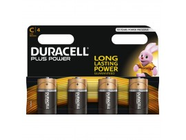 Duracell Plus Power C Size Batteries - 4 Pack