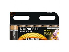 Duracell Plus Power C Size Batteries - 6 Pack