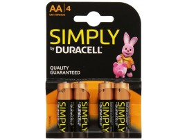 Simply by Duracell AA Batteries - 4 Pack