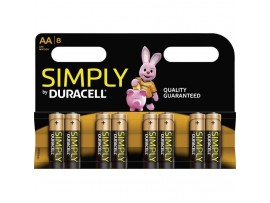Simply by Duracell AA Batteries - 8 Pack