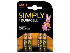 Simply by Duracell AAA Batteries - 4 Pack