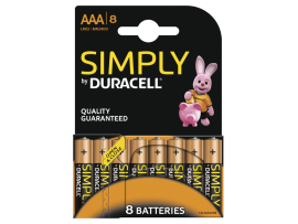 Simply by Duracell AAA Batteries - 8 Pack