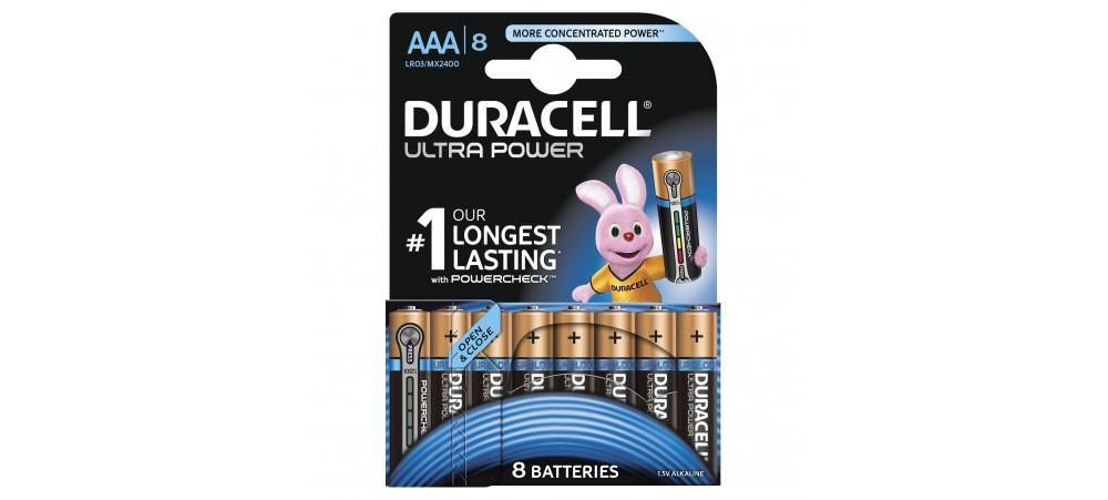 Duracell Golf Cart Battery Reviews >> Duracell MX2400 AAA Ultra Power Batteries pack of 8