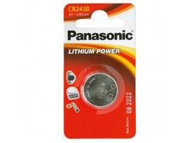 Panasonic CR2430 3V Lithium Battery - 1 Pack