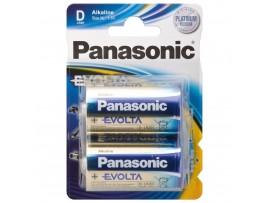 Panasonic D / LR20 Evolta Alkaline Batteries - 2 Pack