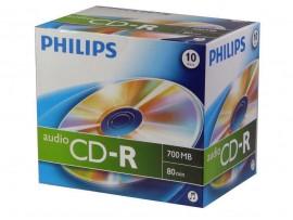 Philips CD-R Audio 80 min - 10 Pack Jewel Case