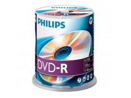 Philips DVD-R 16X 4.7GB - 100 Pack Spindle