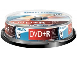 Philips DVD+R 16X 4.7GB - 10 Pack Spindle