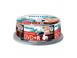 Philips DVD+R Inkjet Printable 16X 4.7GB - 25 Pack Spindle