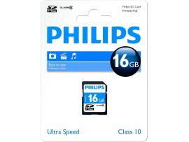 16GB SDHC Class 10 Memory Card - Philips