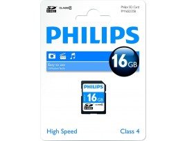 16GB SDHC Class 4 Memory Card - Philips