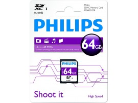 64GB SDXC Class 10 Memory card - Philips