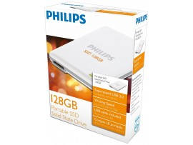 128GB Portable SSD Solid State Harddrive - Philips