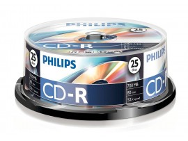 Philips CD-R 80min  700MB 52 speed - 25 Pack Spindle