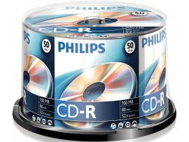 Philips CD-R 80min 700MB 52 speed - 50 Pack Spindle