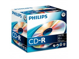 Philips CD-R 80 min / 700mb 52 speed - 10 Pack Jewel Case