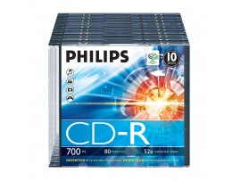 Philips CD-R 80 min / 700mb 52 speed - 10 Pack Slim Jewel Case