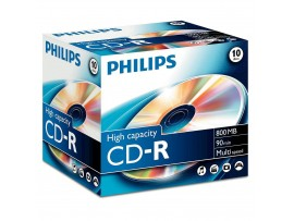 Philips CD-R 90 Min 800MB 40 speed - 10 Pack Jewel Case