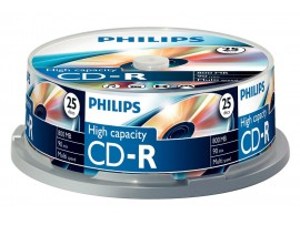 Philips CD-R 90 Min 800MB 40 speed - 25 Pack Spindle