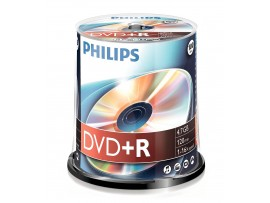 Philips DVD+R 16X 4.7GB - 100 Pack Spindle