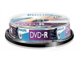 Philips DVD-R 16X 4.7GB - 10 Pack Spindle