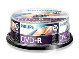 Philips DVD-R 16X 4.7GB - 25 Pack Spindle
