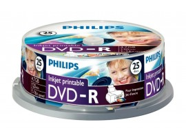 Philips DVD-R Inkjet Printable 16X 4.7GB - 25 Pack Spindle