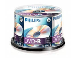 Philips DVD-R 16X 4.7GB - 50 Pack Spindle